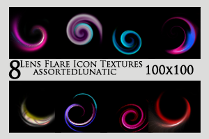 Lens Flare Icon Textures 1 by assortedlunatic