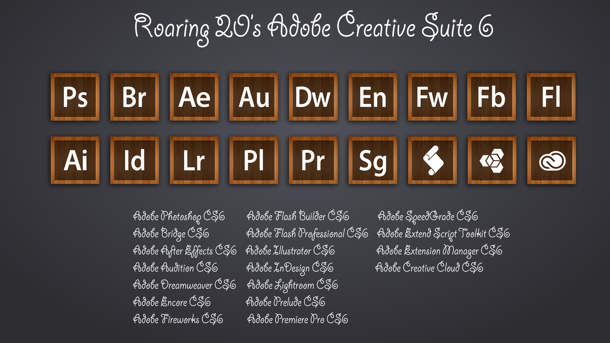 Roaring 20s adobe creative suite 6 icons by for Adobe digital publishing suite pricing