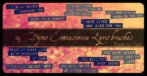 Evanescence Lyric brushes
