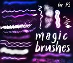Free magic glow brushes for photoshop