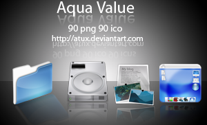 Aqua Value by AtuX Icon, Icons and more Icons