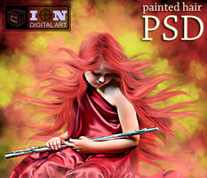 PAINTED HAIR PSD by erool