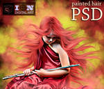 PAINTED HAIR PSD