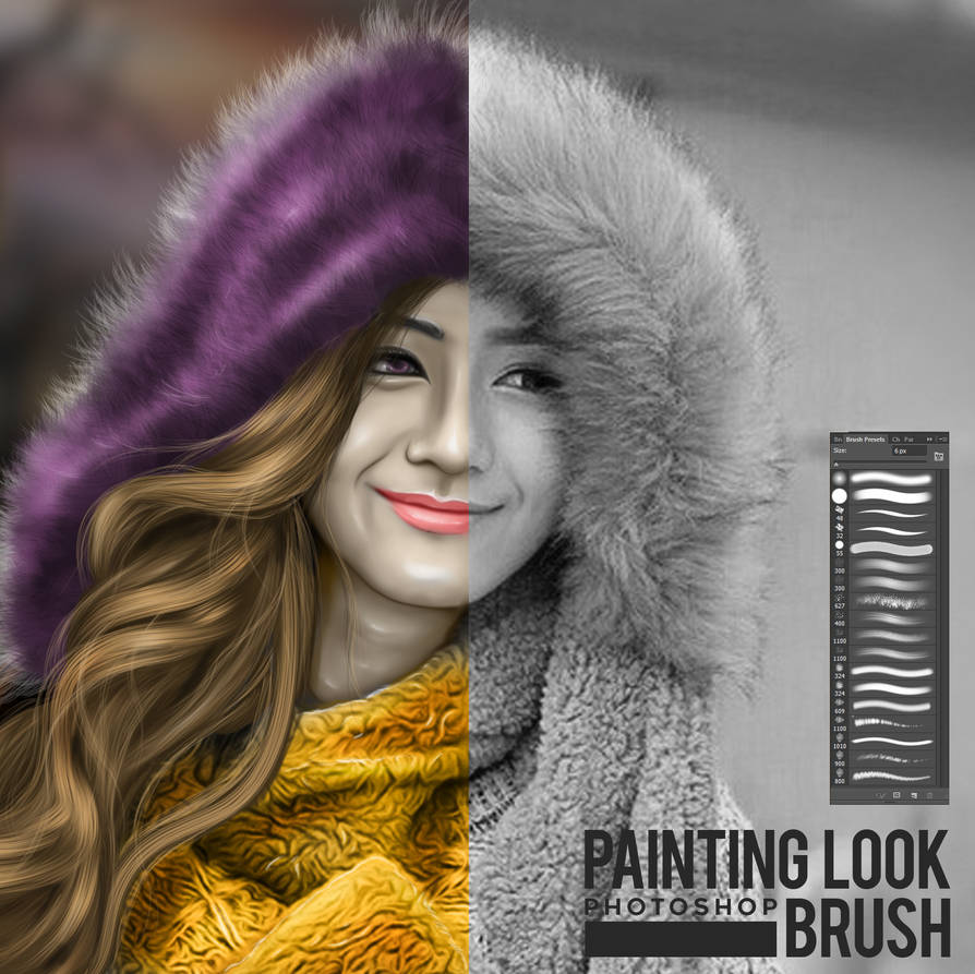 painting look brush photoshop by erool