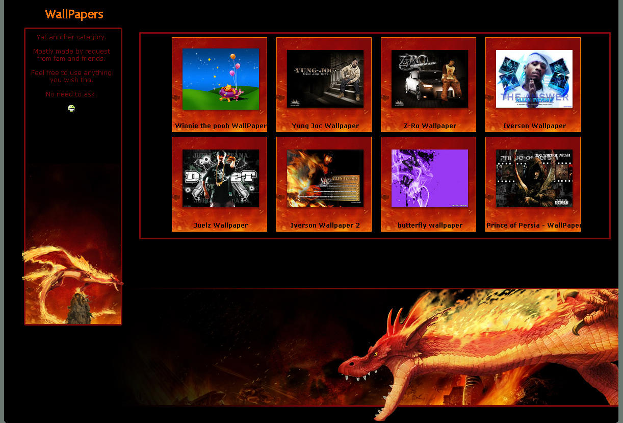 Dragon Gallery CSS by lockjavv