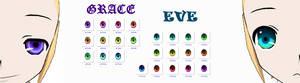 EVE'n'GRACE eye textures download