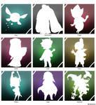 The legend of zelda icon set