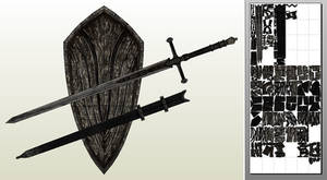 Silver Knight Straight Sword + Shield PDO/PDF