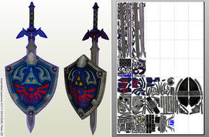 Master Sword + Hylian Shield PDO/PDF