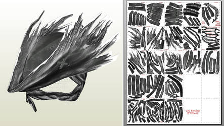 Bloodborne Papercraft - Wearable Grey Wolf Cap