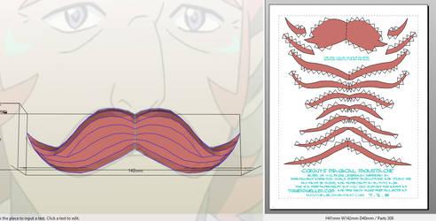 Voltron Papercraft - Corans's Magical Moustache