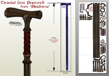 Bloodborne Papercraft - Threaded Cane PDO/PDF