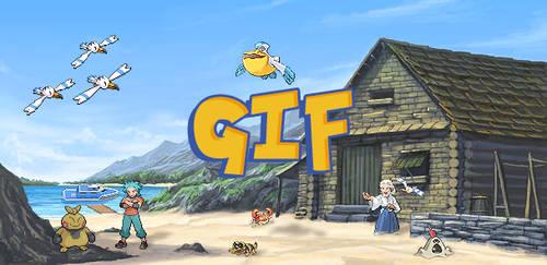 Pokemon Sprite GIF - Dewford Town by Loupii