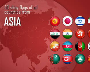 Flag Icons - Asia by antibakteriell