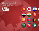 Flag Icons - Asia
