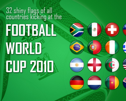 Flag Icons - FIFA WC 2010 by antibakteriell