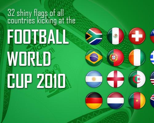 Flag Icons - FIFA WC 2010