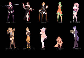 [MMD] Pose Pack 1 - DL by aagxpe