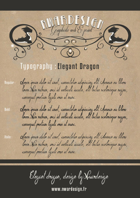 Elegant Dragon Font by Koogan