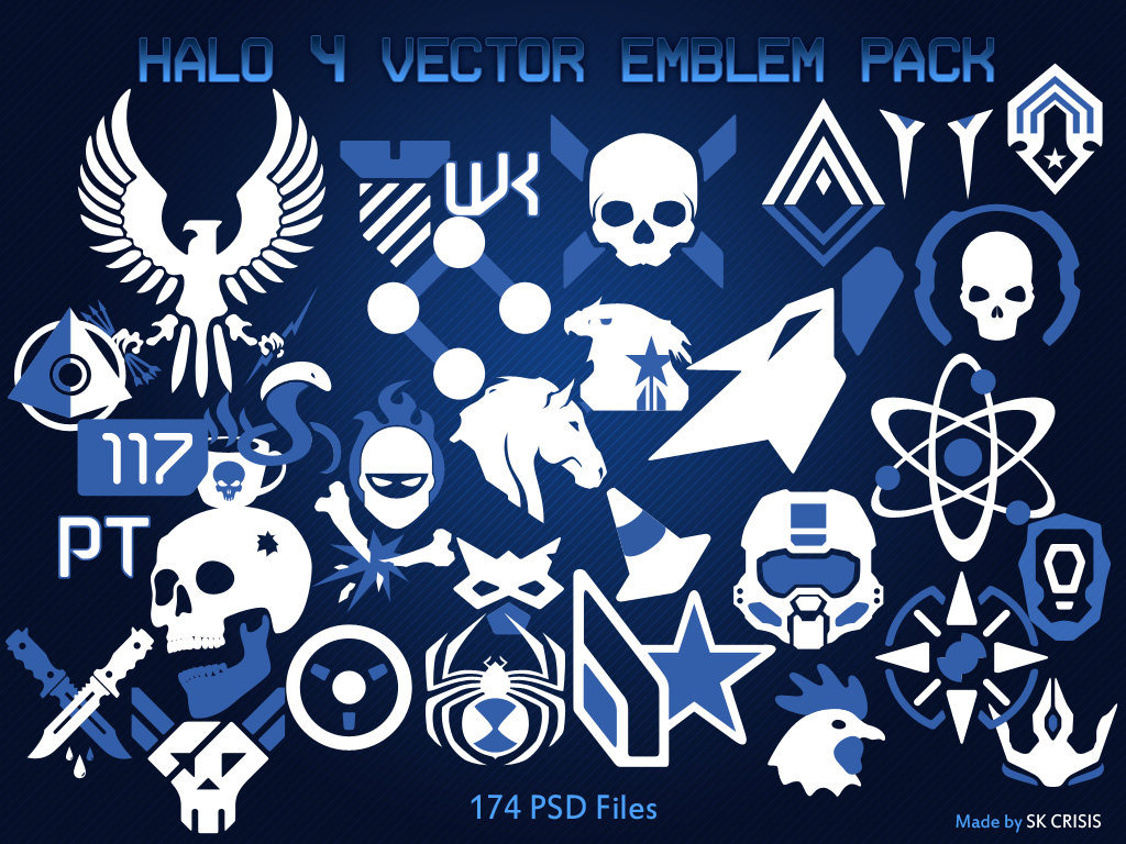 Halo 4 Vector Emblem Pack by SKCRISIS