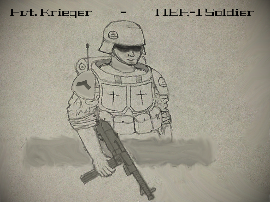 Pvt. Krieger - 'TIER-1' Character by Brendan-Franklin13