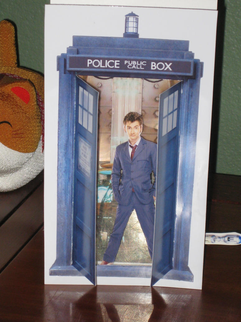 3-D TARDIS Card Template and Instructions by RudeAndGinger on DeviantArt