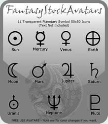 Avatar: Planetary Symbol Icons by FantasyStockAvatars