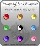 Avatar: Rainbow Yin Yang Icons by FantasyStockAvatars