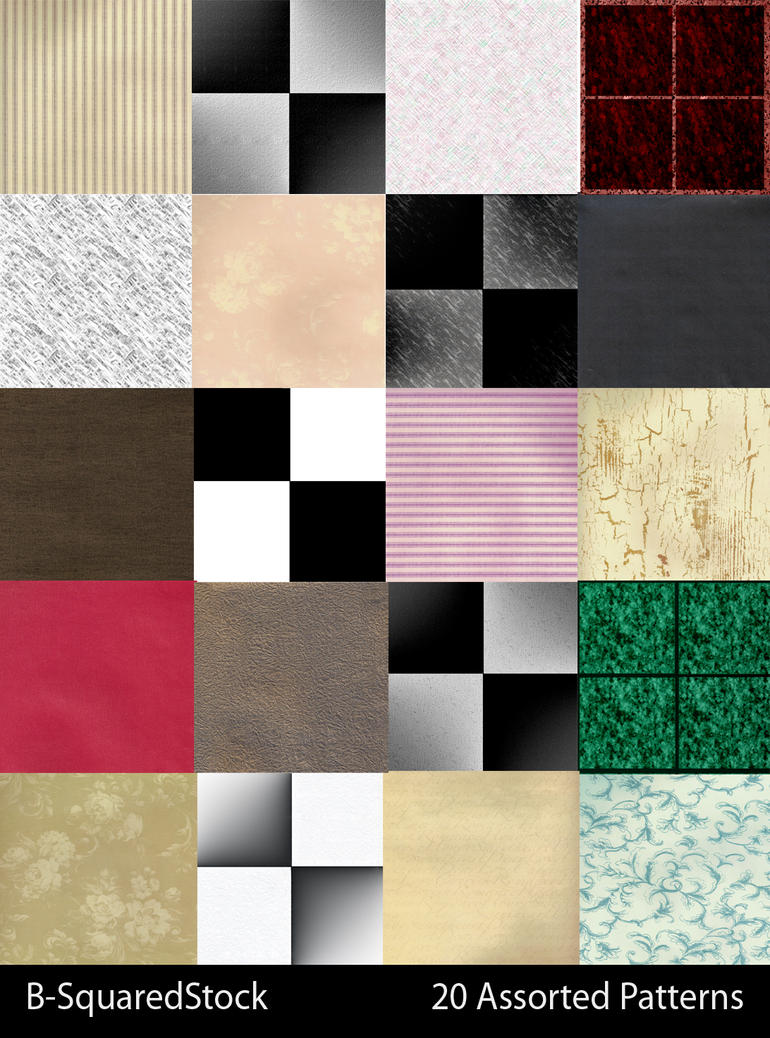 Assorted Photoshop Patterns by B-SquaredStock