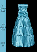Light Blue Gown Front PSD by B-SquaredStock