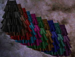 Coloured Skirts PSD