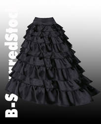 Black Ruffle Skirt Side PSD