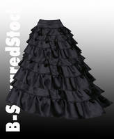 Black Ruffle Skirt Side PSD by B-SquaredStock