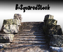 Stone Stairs PSD by B-SquaredStock