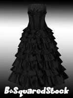 Long Black Dress PSD by B-SquaredStock
