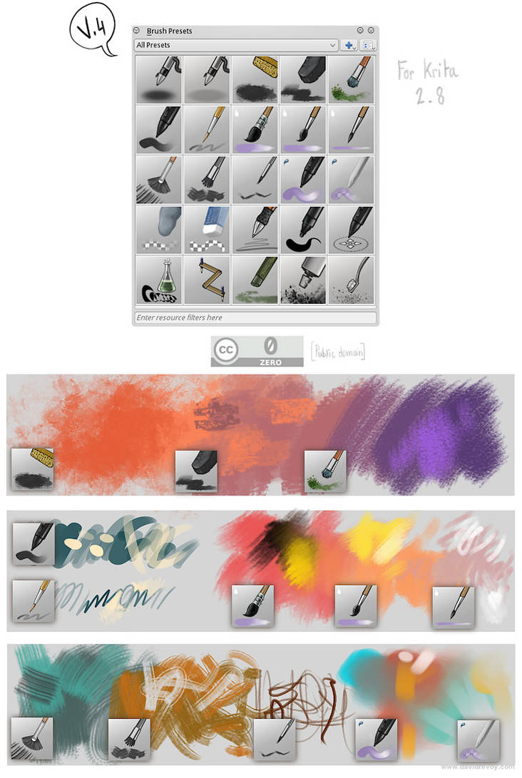 Krita brushes, v4 by Deevad on DeviantArt