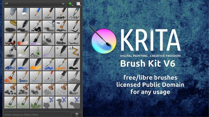 Krita brushes pack, version 6