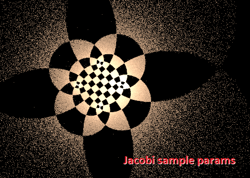 Jacobi elliptic nice settings by dark-beam