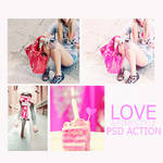 love pink style psd