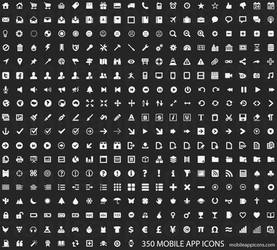 350 Mobile App Icons