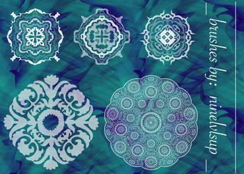 Ornate Mandala Brushes