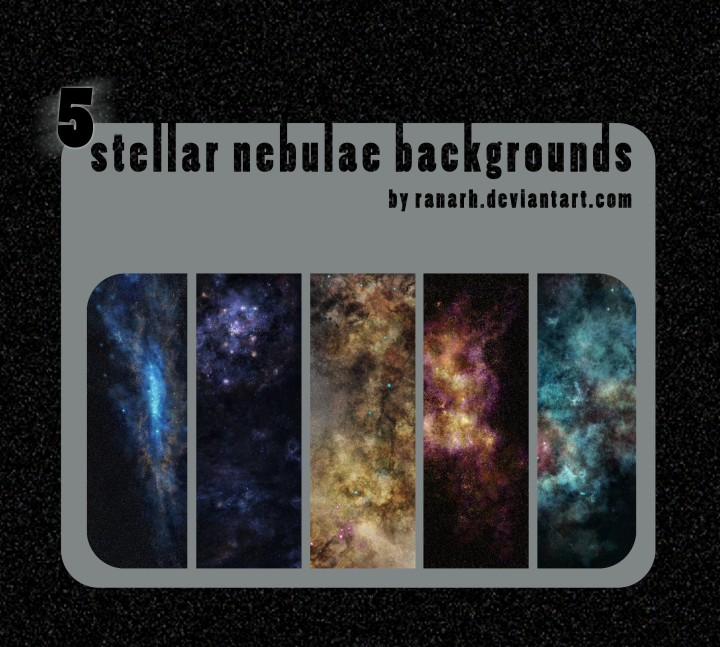 5 Stellar nebulae backgrounds