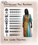 11 patterned brushes for Painter