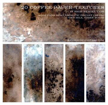 20 Coffee Paper Textures