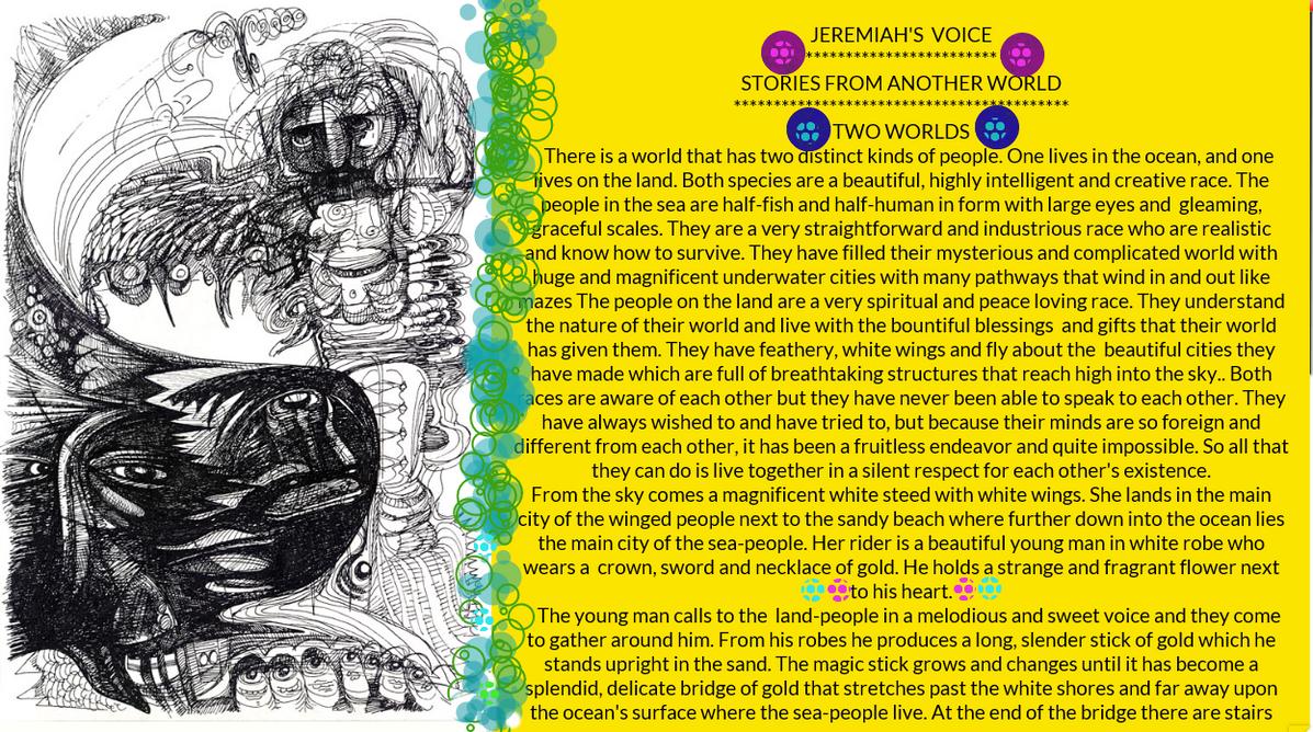 JEREMIAH'S VOICE--- TWO WORLDS by jeremiahkauffman