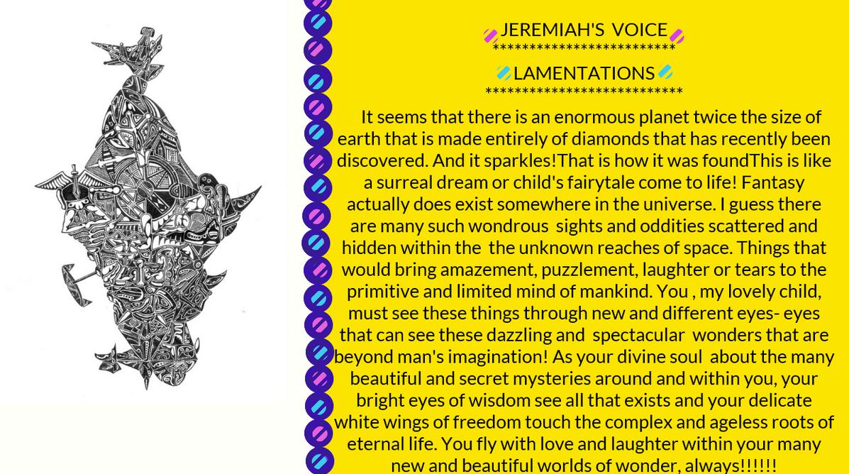 JEREMIAH'S VOICE--- LAMENTATIONS 2 by jeremiahkauffman