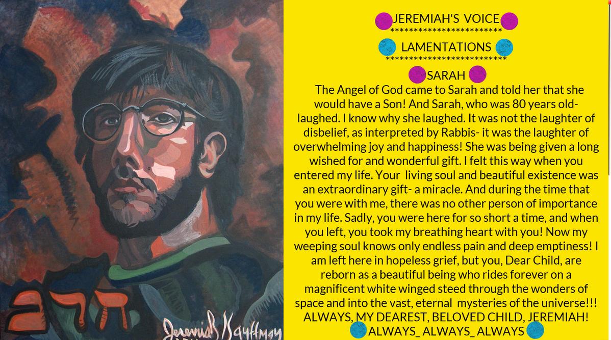 JEREMIAH'S  VOICE:::: LAMENTATIONS by jeremiahkauffman