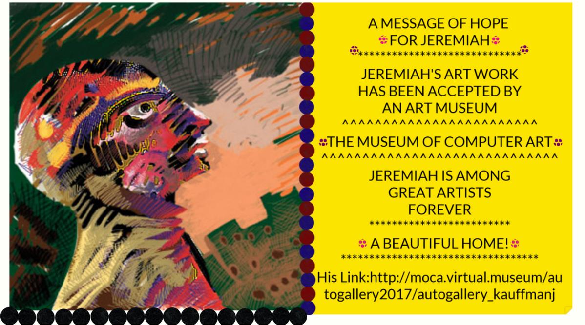 Jeremiah's Art is in a Museum!!!! by jeremiahkauffman
