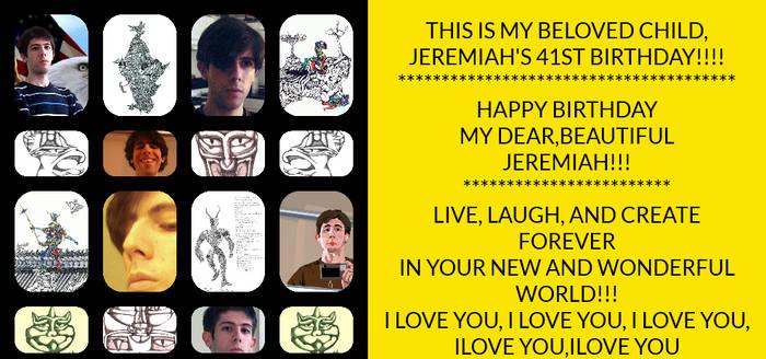 HAPPY BIRTHDAY, JEREMIAH!!!