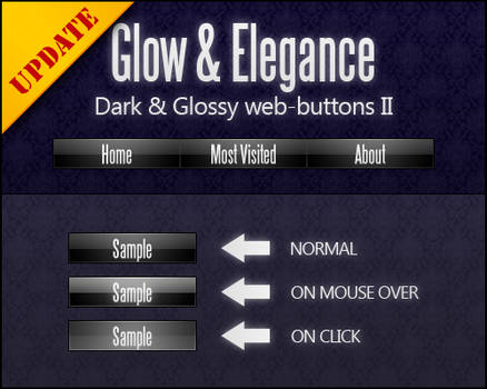 Dark and Glossy web-buttons II